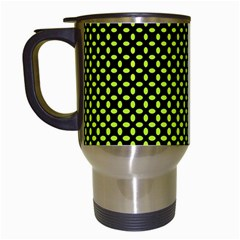 Pattern Halftone Background Dot Travel Mugs (white)