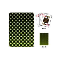 Pattern Halftone Background Dot Playing Cards (mini)