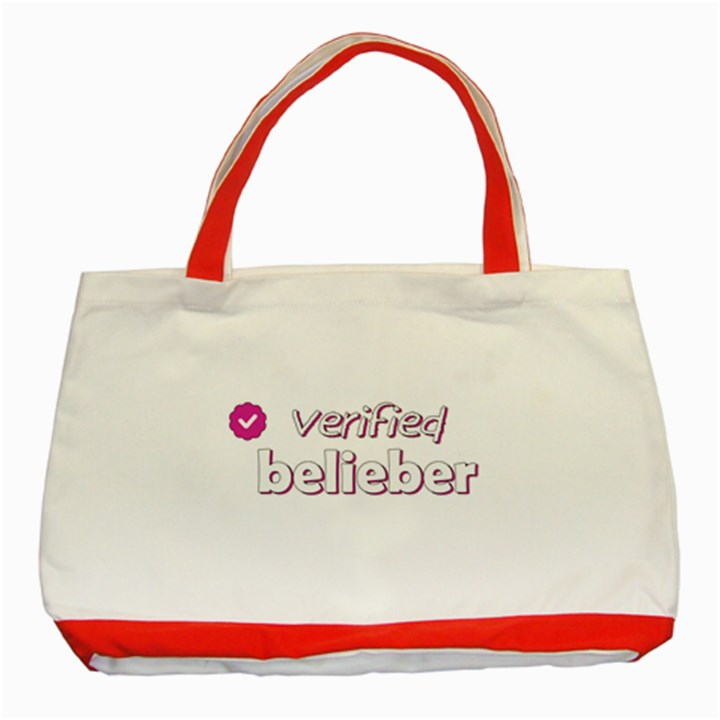 Verified Belieber Classic Tote Bag (Red)