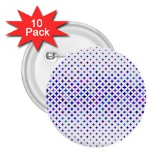 Star Curved Background Geometric 2 25  Buttons (10 Pack)