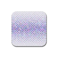 Star Curved Background Geometric Rubber Square Coaster (4 Pack)