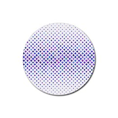 Star Curved Background Geometric Rubber Round Coaster (4 Pack)