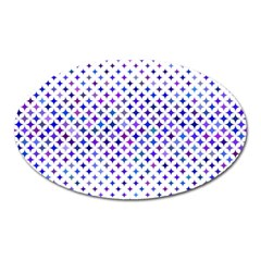 Star Curved Background Geometric Oval Magnet