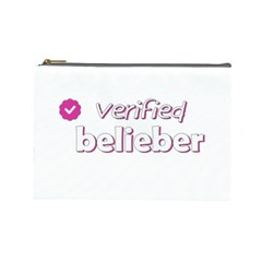 Verified Belieber Cosmetic Bag (large)