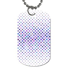 Star Curved Background Geometric Dog Tag (two Sides)