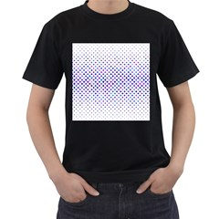 Star Curved Background Geometric Men s T Shirt (black) (two Sided)
