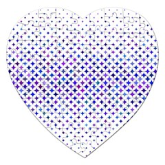 Star Curved Background Geometric Jigsaw Puzzle (heart)