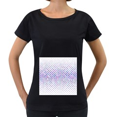 Star Curved Background Geometric Women s Loose Fit T Shirt (black)