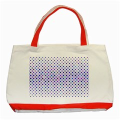 Star Curved Background Geometric Classic Tote Bag (red)