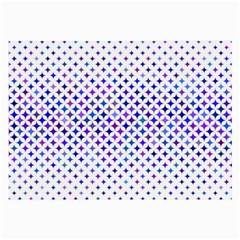 Star Curved Background Geometric Large Glasses Cloth (2 Side)