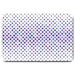Star Curved Background Geometric Large Doormat