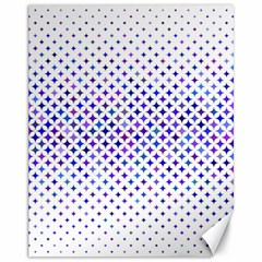 Star Curved Background Geometric Canvas 11  X 14