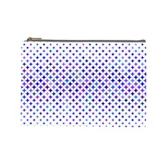 Star Curved Background Geometric Cosmetic Bag (large)