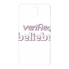 Verified Belieber Samsung Galaxy Note 3 N9005 Hardshell Back Case