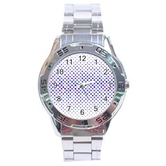 Star Curved Background Geometric Stainless Steel Analogue Watch