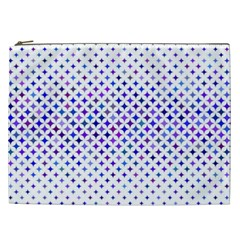 Star Curved Background Geometric Cosmetic Bag (xxl)
