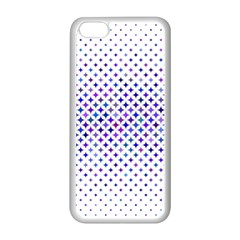 Star Curved Background Geometric Apple Iphone 5c Seamless Case (white)