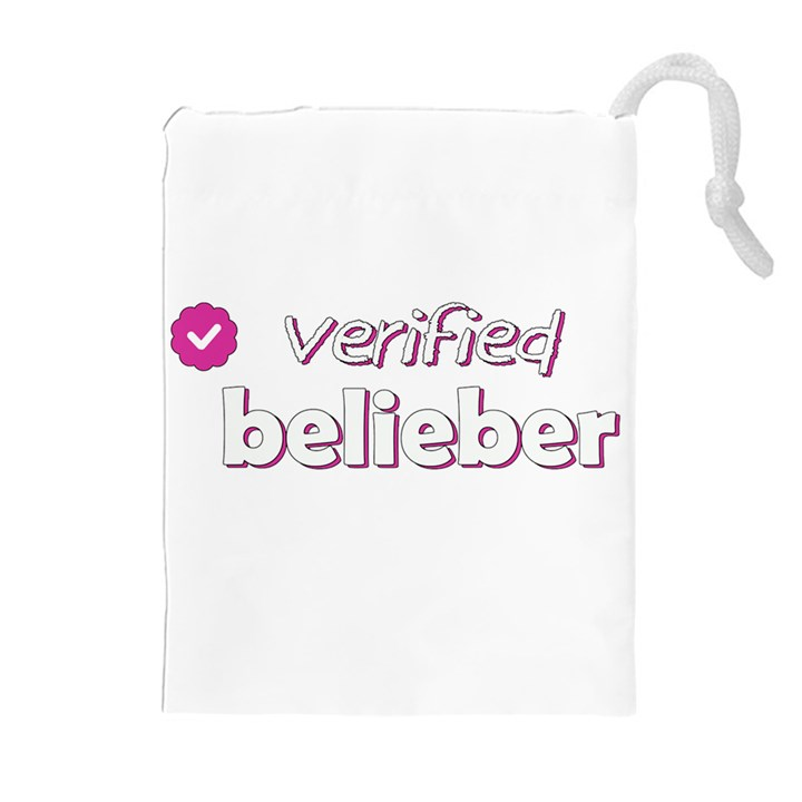 Verified Belieber Drawstring Pouches (Extra Large)