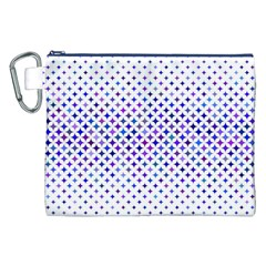 Star Curved Background Geometric Canvas Cosmetic Bag (xxl)