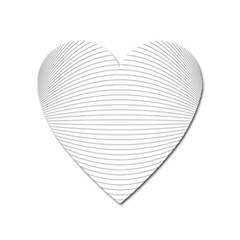 Pattern Background Monochrome Heart Magnet