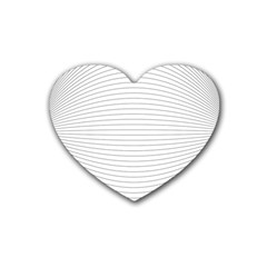 Pattern Background Monochrome Rubber Coaster (heart)