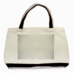 Pattern Background Monochrome Basic Tote Bag (two Sides)
