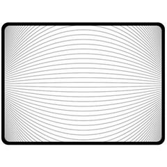 Pattern Background Monochrome Fleece Blanket (large)
