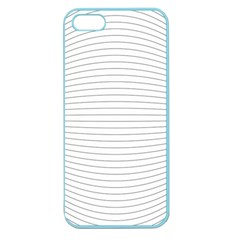 Pattern Background Monochrome Apple Seamless Iphone 5 Case (color)