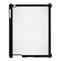 Pattern Background Monochrome Apple Ipad 3/4 Case (black)