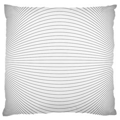 Pattern Background Monochrome Large Flano Cushion Case (one Side)