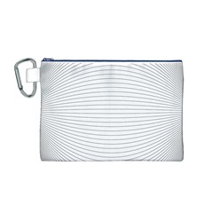 Pattern Background Monochrome Canvas Cosmetic Bag (m)