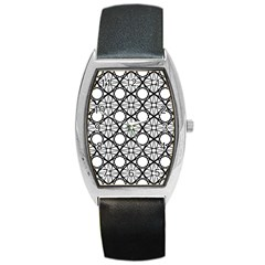Line Stripe Curves Curved Seamless Barrel Style Metal Watch
