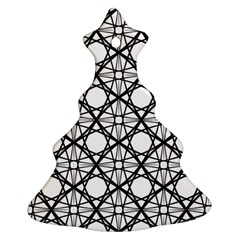 Line Stripe Curves Curved Seamless Ornament (christmas Tree)