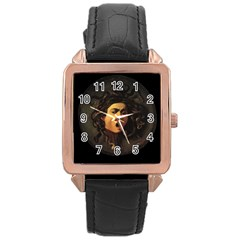Medusa Rose Gold Leather Watch