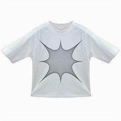 Star Grid Curved Curved Star Woven Infant/toddler T Shirts