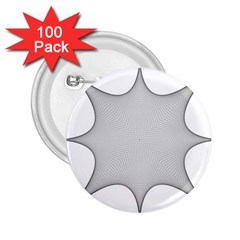 Star Grid Curved Curved Star Woven 2 25  Buttons (100 Pack)