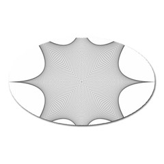 Star Grid Curved Curved Star Woven Oval Magnet