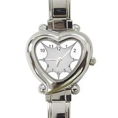 Star Grid Curved Curved Star Woven Heart Italian Charm Watch
