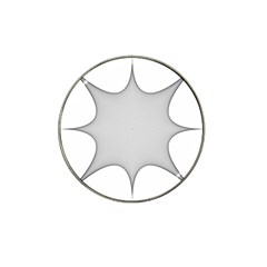 Star Grid Curved Curved Star Woven Hat Clip Ball Marker