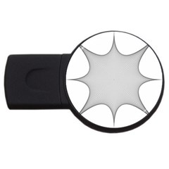 Star Grid Curved Curved Star Woven Usb Flash Drive Round (4 Gb)