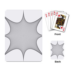 Star Grid Curved Curved Star Woven Playing Card