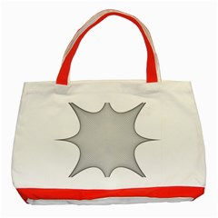 Star Grid Curved Curved Star Woven Classic Tote Bag (red)