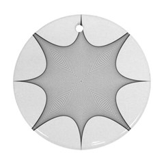 Star Grid Curved Curved Star Woven Round Ornament (two Sides)