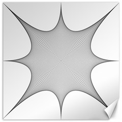 Star Grid Curved Curved Star Woven Canvas 12  X 12