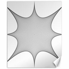 Star Grid Curved Curved Star Woven Canvas 16  X 20
