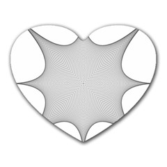 Star Grid Curved Curved Star Woven Heart Mousepads