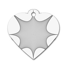 Star Grid Curved Curved Star Woven Dog Tag Heart (one Side)