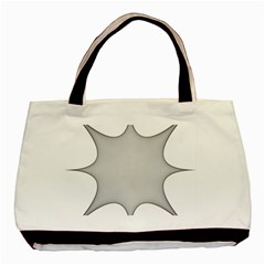 Star Grid Curved Curved Star Woven Basic Tote Bag (two Sides)