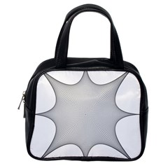 Star Grid Curved Curved Star Woven Classic Handbags (one Side)