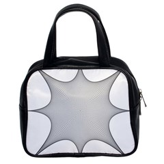Star Grid Curved Curved Star Woven Classic Handbags (2 Sides)